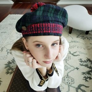 Chanel Wool Beret/ Vintage